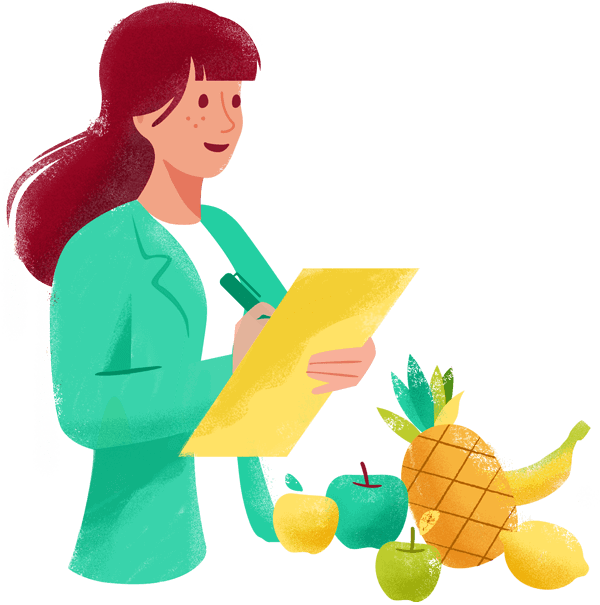 Illustration of a Nutritionist