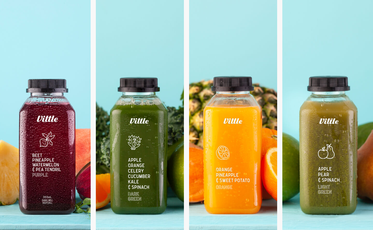 Pair cold-pressed juices with your meals starting at $6